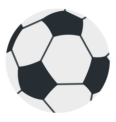 Soccer or football ball icon isolated vector