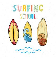 Surf boards hand drawn sketch t-shirt print vector