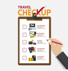 The concept of infographic for travel planning on vector image vector image