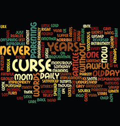 The curse reversed text background word cloud vector