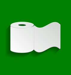 Toilet paper sign paper whitish icon with vector