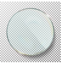 transparent round circle realistic vector image vector image