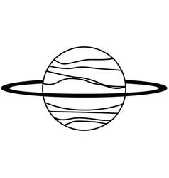 Uranus planet solar system line vector