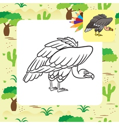 Vulture coloring page vector