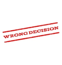 Wrong decision watermark stamp vector