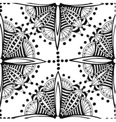 Zentangle seamless pattern black and white vector