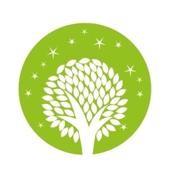 Tree ecology symbol icon vector