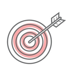 Target isolated on white video marketing vector