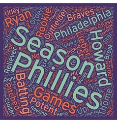 Philadelphia phillies preview text background vector