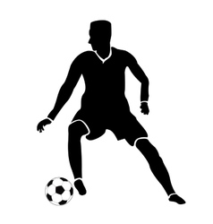 Isolated soccer player vector