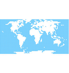 world map dotted circle vector image