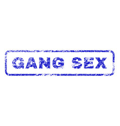 gang sex rubber stamp vector image