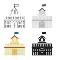 Government icon cartoon single building icon from vector