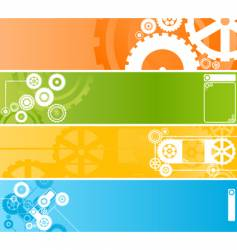 wheel banner vector image