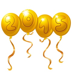 2015 new year balloons vector image vector image