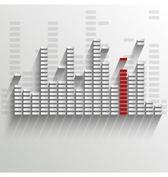 equalizer on white with red strip vector image