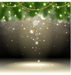 Christmas background with confetti vector