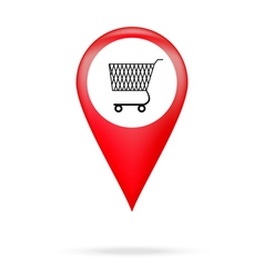 Pointer to shopping basket vector