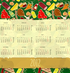 food calendar vector image
