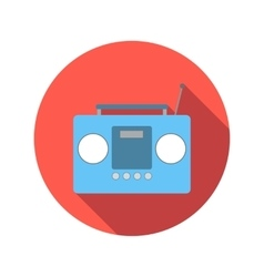 Boom box or radio cassette tape player flat icon vector