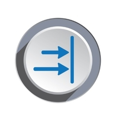 Arrow to right icon move direction cursor sign vector