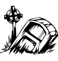 grave - halloween set - vector image