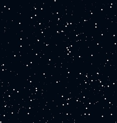 Seamless horizontal stars background vector image