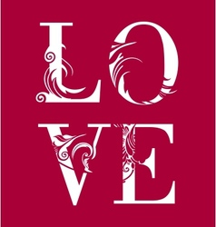 Abstract romantic card image vector image vector image