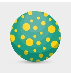 balloon plastic toy isolated icon vector image vector image