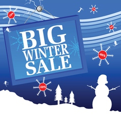 big winter sale with number vector image vector image