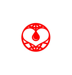 Blood care logo vector