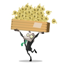 Businessman carry money vector