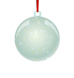Christmas newyear ball with ribbon hanging vector