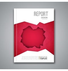 Cover report business colorful red polygonal hole vector
