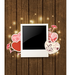 Decorative background with hearts vector image