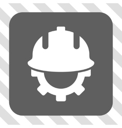 Development Helmet Rounded Square Button vector image