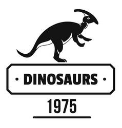Dinosaur lizard logo simple black style vector