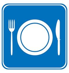 Food item road sign vector image