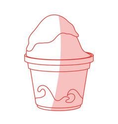 Frozen yogurt design vector