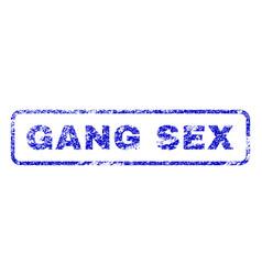 Gang sex rubber stamp vector