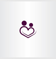 heart love logo icon sign vector image