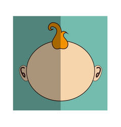 Little asian baby icon vector