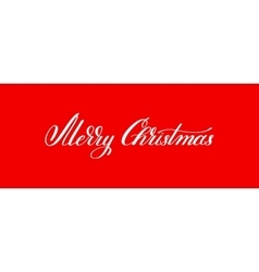 merry christmas handwritten lettering text vector image