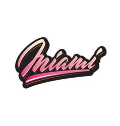 miami brush script lettering vector image