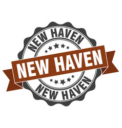 New haven round ribbon seal vector