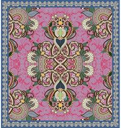 Ornamental carpet design vector