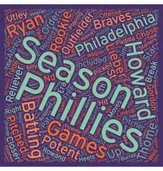 Philadelphia phillies preview text background vector