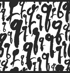 seamless pattern with calligraphy letters q vector image vector image