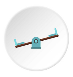 Seesaw on a playground icon circle vector