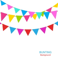 Set colorful buntings flags garlands for holiday vector